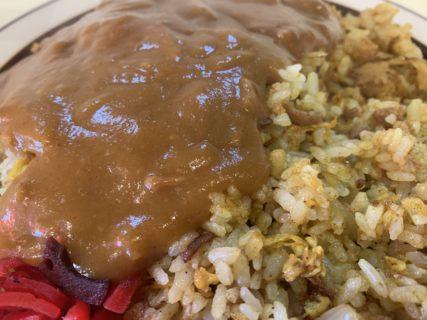 キッチンクック「ドライカレー!」カレーonカレーで、まさにカレーまみれの一皿!